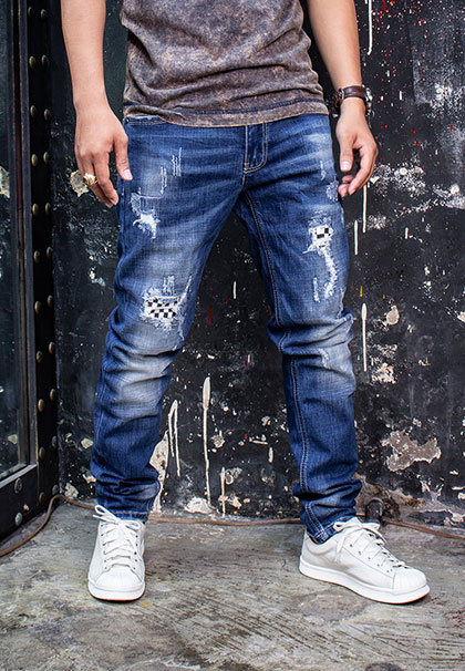 chàng nào chân ngắn thử ngay mấy dáng quần jean nam rách này